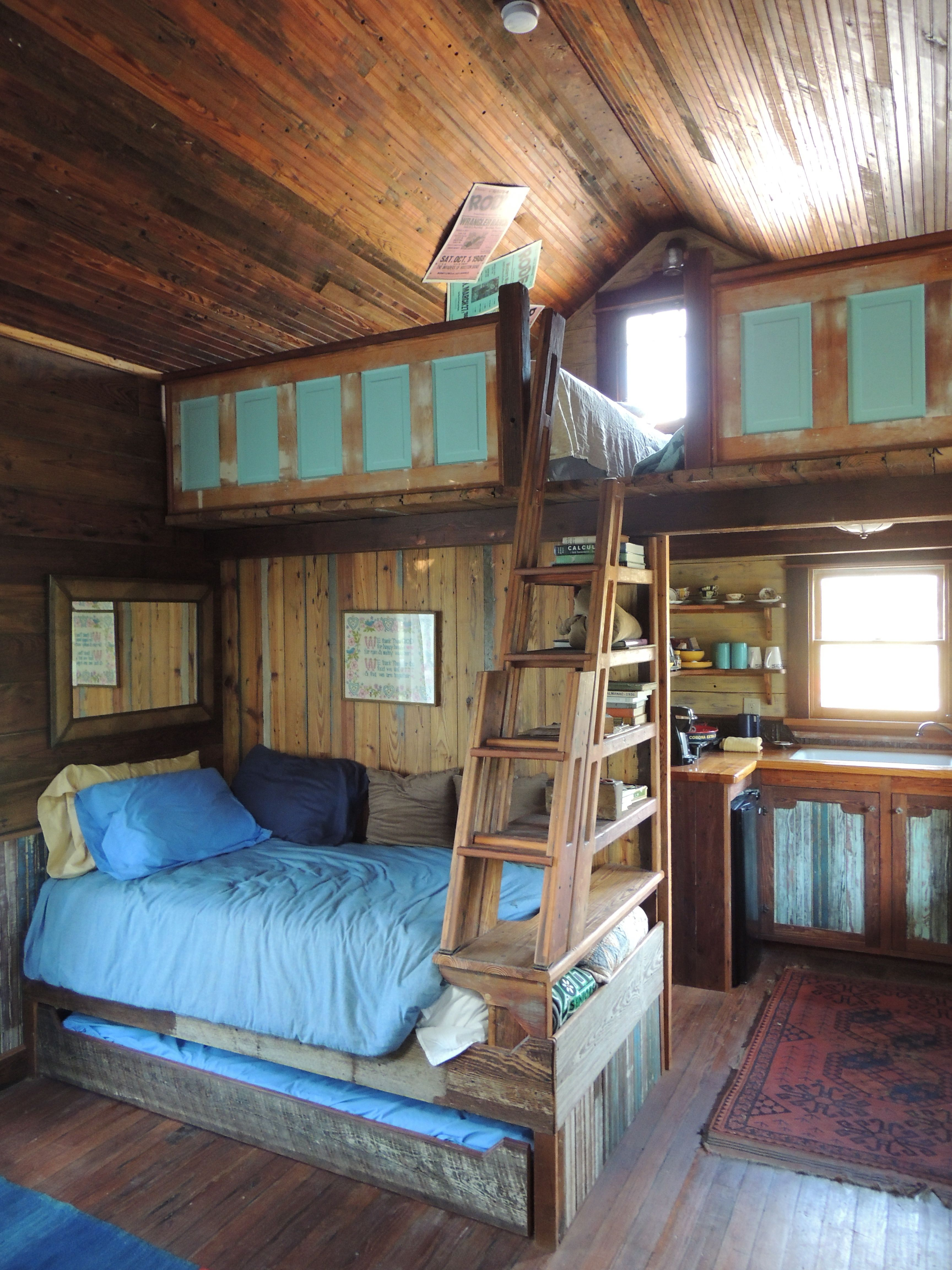 Kitchens In Tiny Texas Houses Are Never Exactly Alike Pure Salvage Living Tiny House Cabin Small Cabin Plans Small Cabin