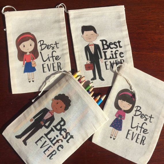 Best Life Ever - Children's Gift Bags for Pencils, Candy