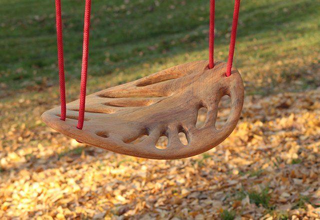 Fancy - Carved Wood LEAF Swing