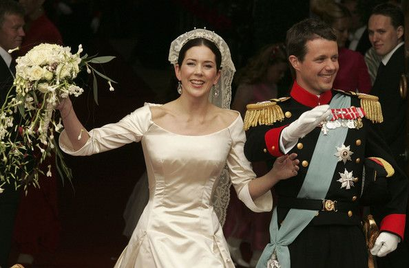 Danish Crown Prince Frederik And His Bride Princess Mary Leave Copenhagen Cathedral After Their Wedding