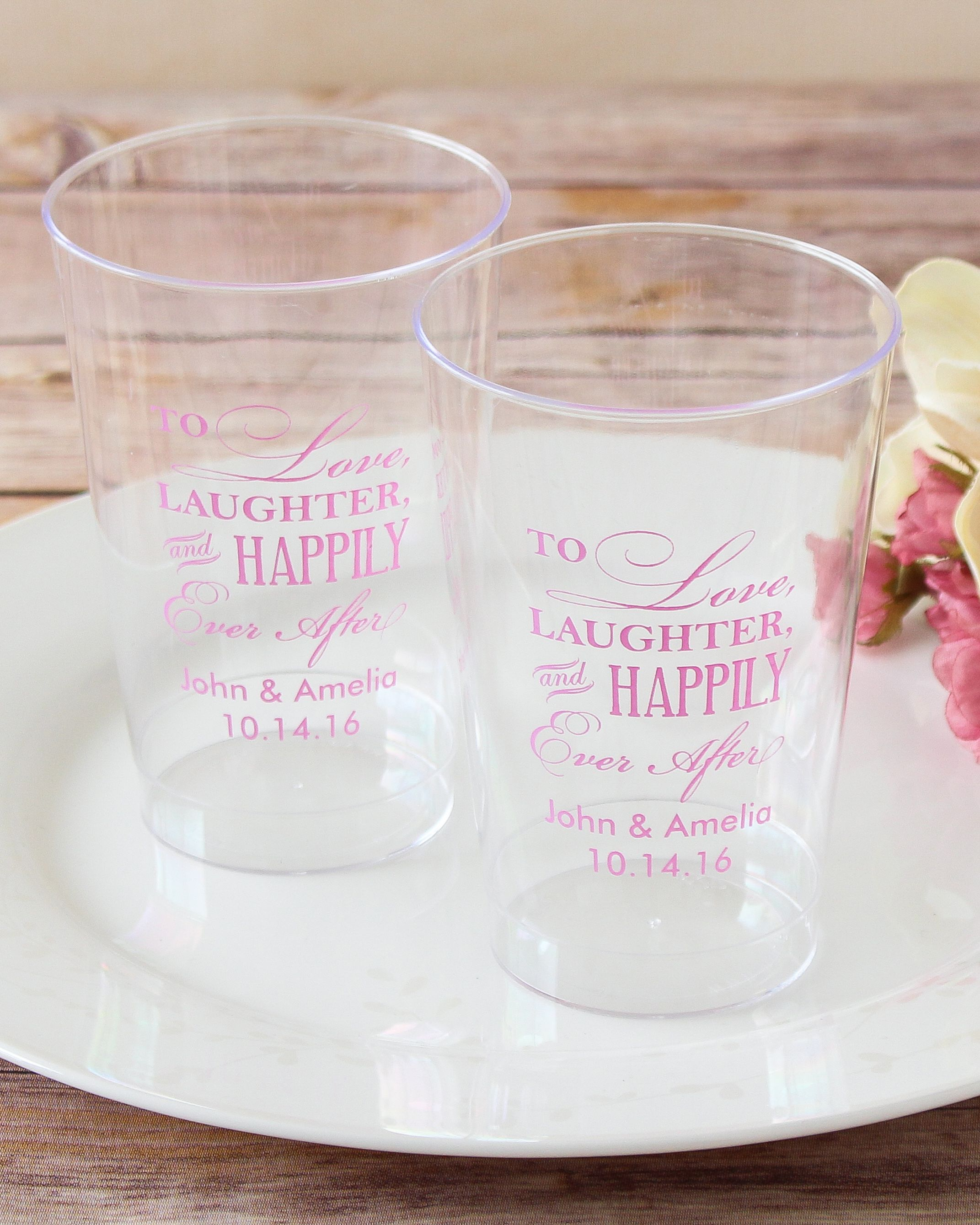 Personalized Clear Plastic Cups | Plastic cups, Cups and Glass