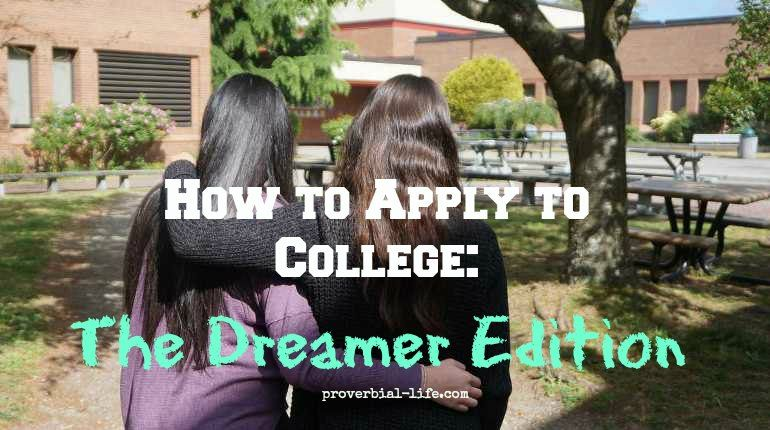 Help in the college application process for daca students