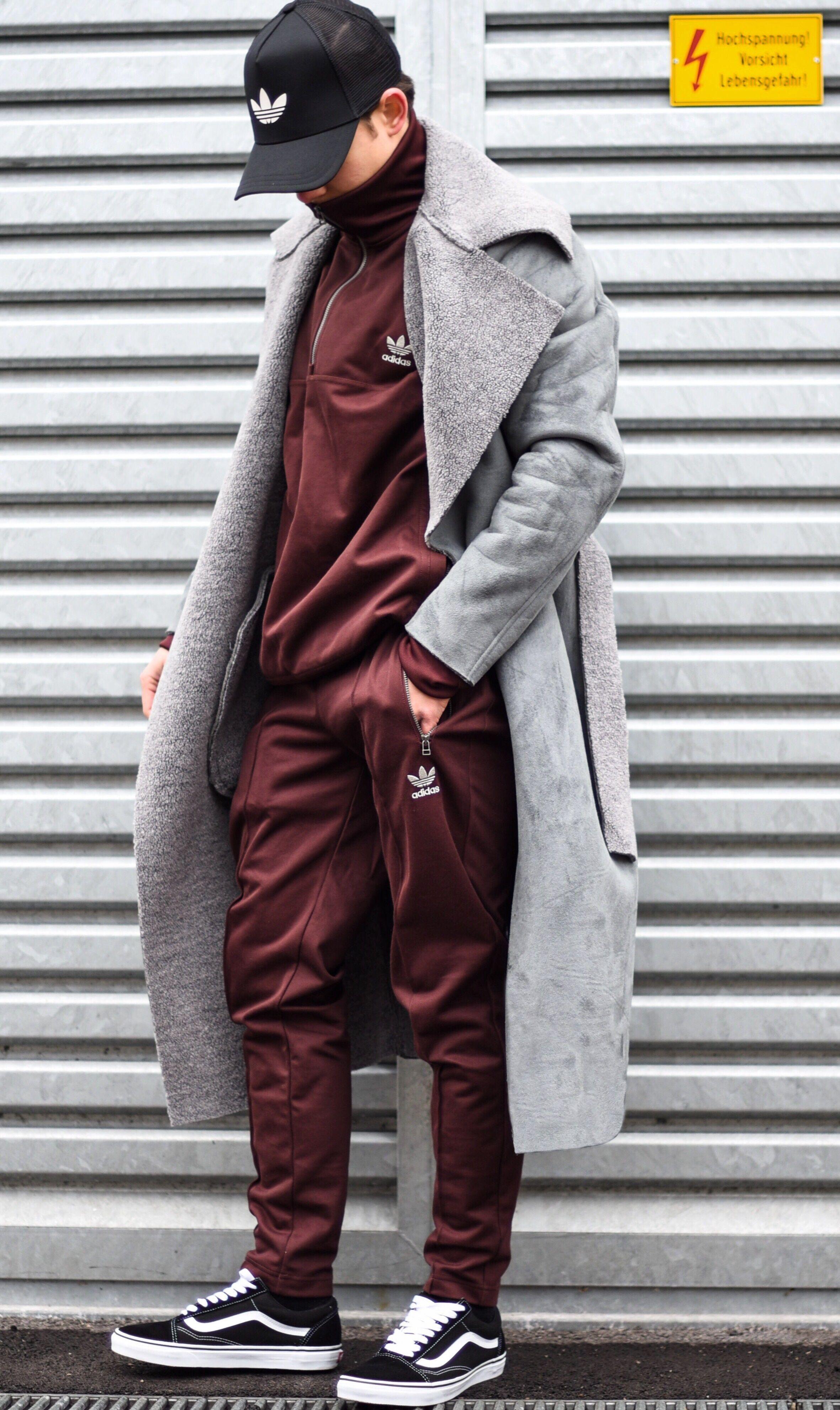 adidas burgundy sweatsuit