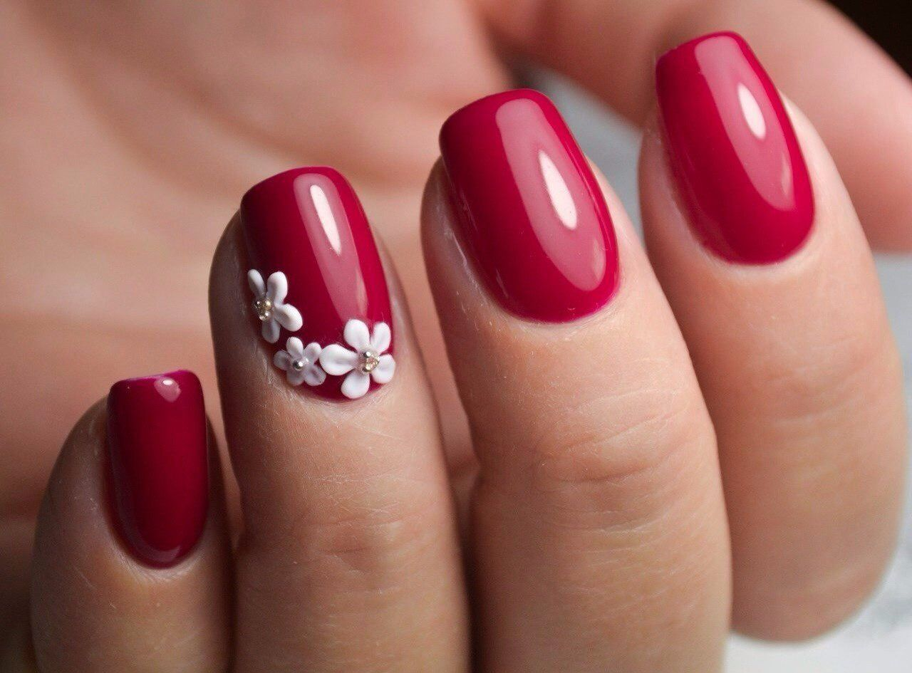Pin von Ольга Петренко auf Nails | Pinterest | Rote gel-nägel ...