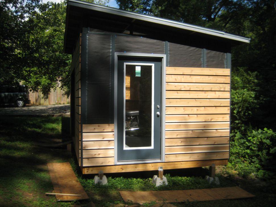 Diy Modern Shed Project Avec Images Cabanon De Jardin Cabane Jardin Abri Bois