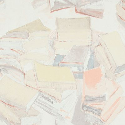 "Walls Republic Piles of Books Wallpaper 32.97"" x 20.8"" Abstract Wallpaper Color: Pastel"