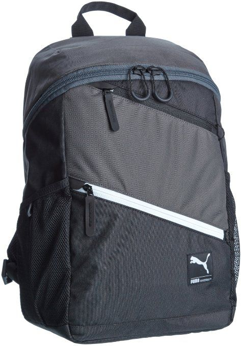 b73cff95a53 Puma Foundation Prime Black Casual Backpack (7215901): Amazon.in: Luggage &  Bags