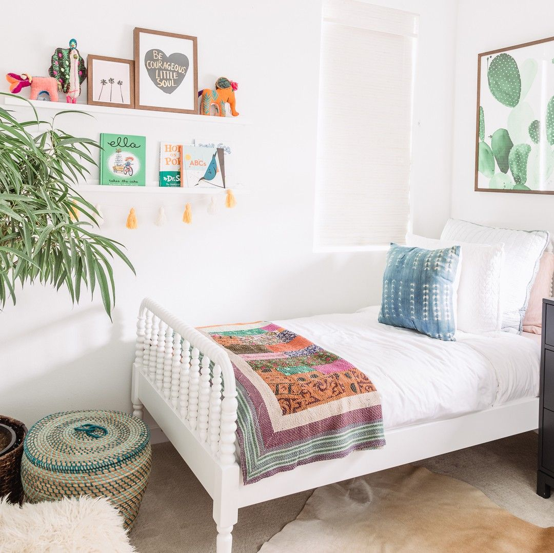 Bohemian Kids Room: Bright & Bohemian Vibes Are All Over This Girls' Bedroom