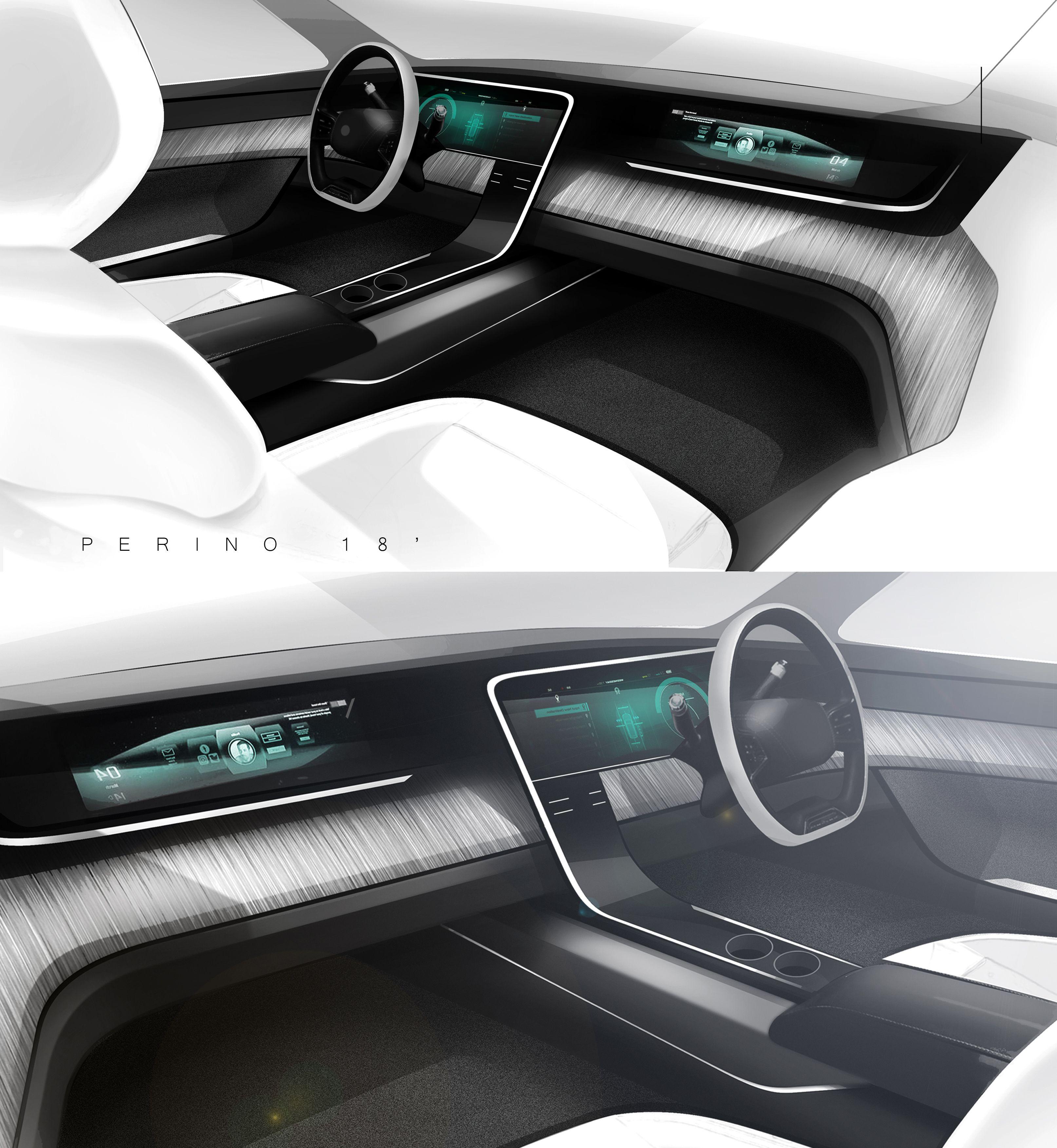 Interior Automotive Design Renderings Autodesign Futuristische Autos Interior Design Skizzen