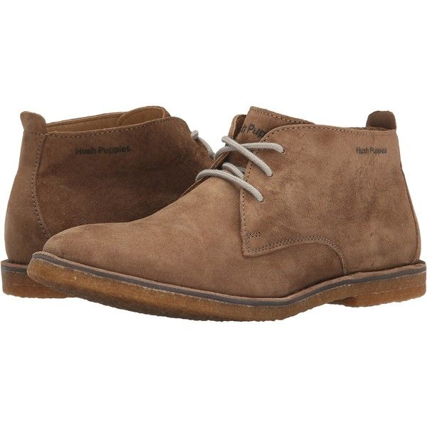 Hush Puppies Desert II (Taupe Suede) Men's Lace up casual Shoes ($91)