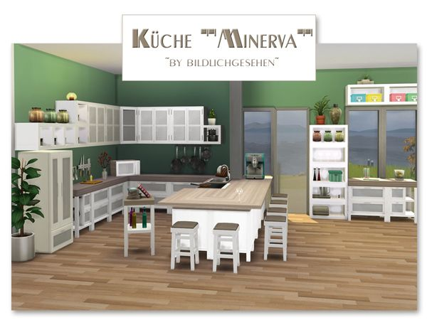"Küche ""Minerva"" | akisima sims blog | Sims haus, Sims 4 ..."