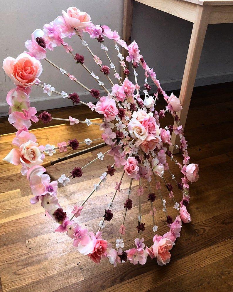 Parasol Wedding Flower Party Prop Photo Vintage Retro Lady Umbrella Handmade