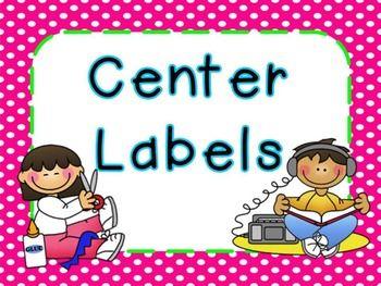 Center Labels Freebie (Bright Frames) | Preschool center ...