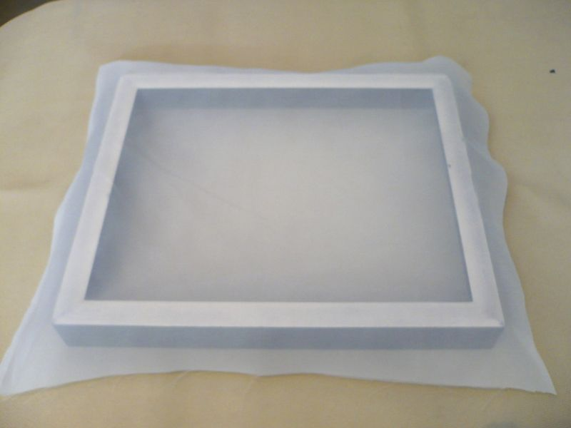 photo of a screen printing frame