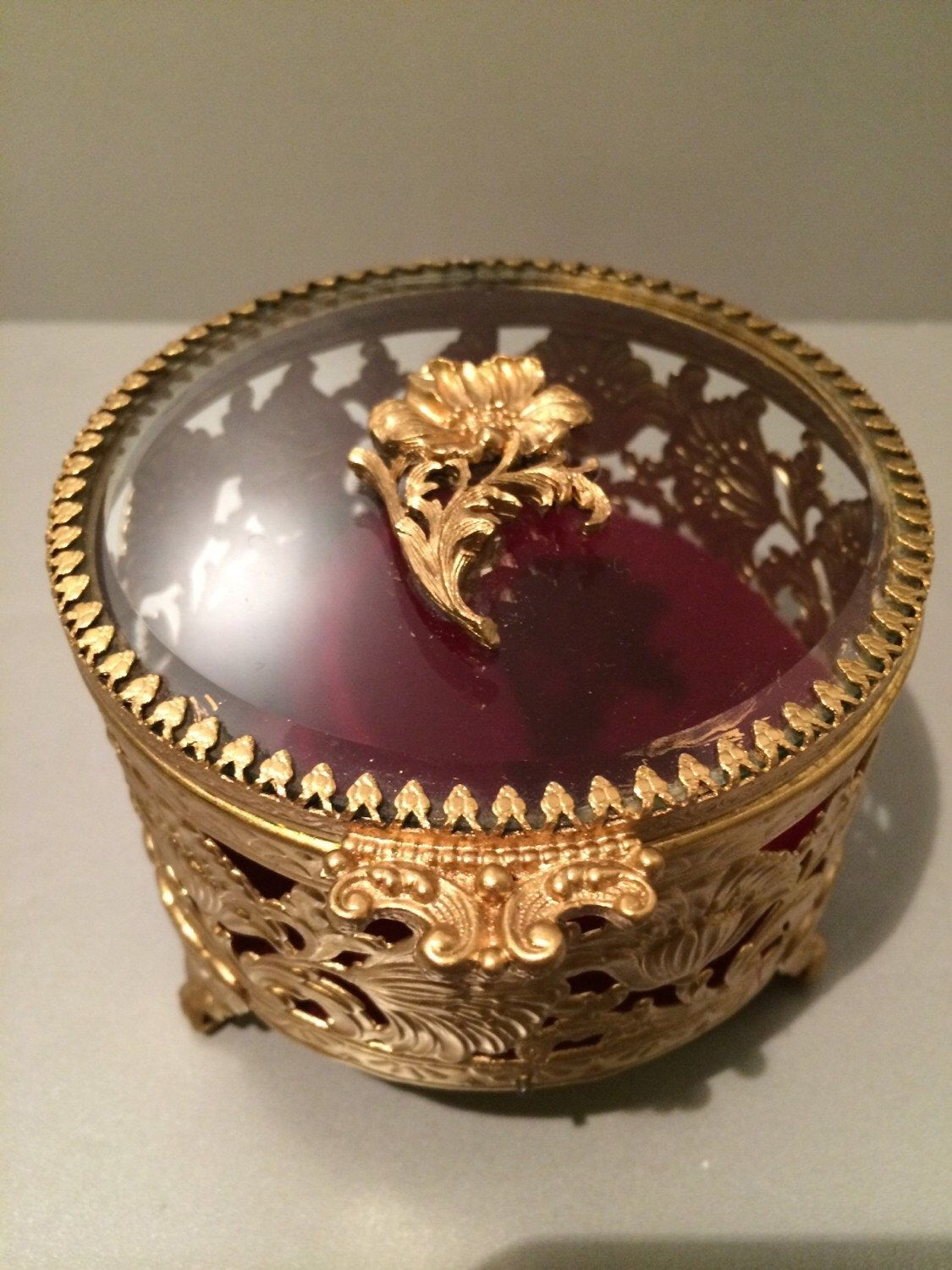 A personal favorite from my Etsy shop https://www.etsy.com/listing/214743824/vintage-filigree-small-round-jewelry-box