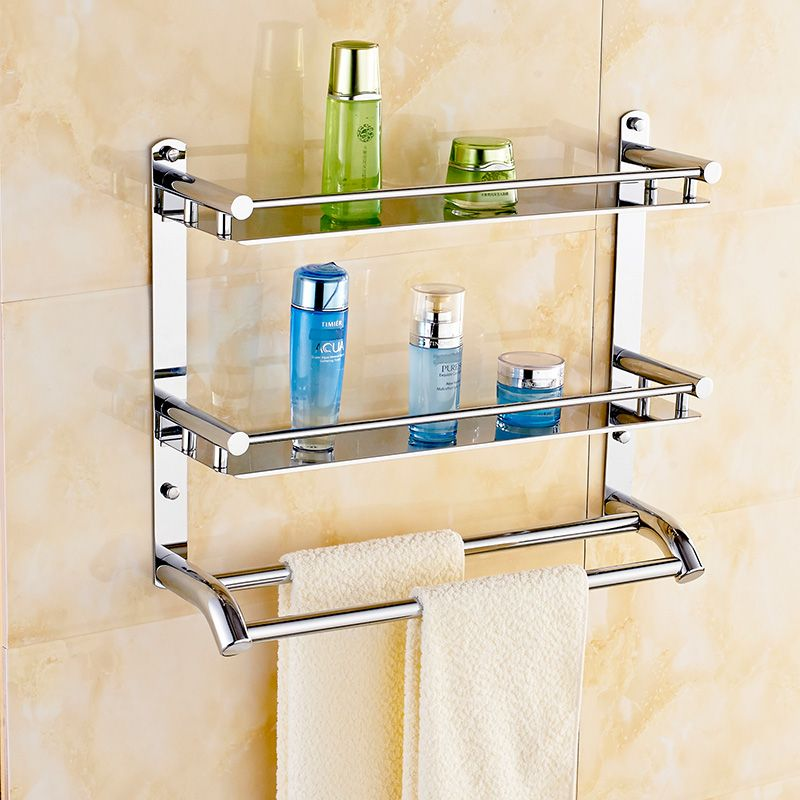 Hanging Bathroom Shelves Fair Free Shippin 304 Stainless Steel Bathroom Shelf Toilet Rack Towel Inspiration Design