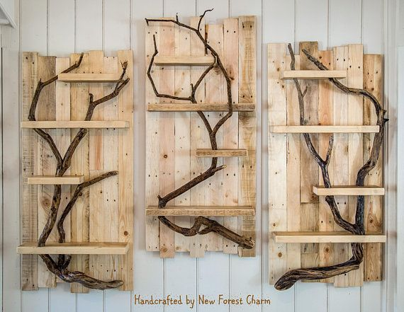 Rustic Home Decor Wooden Wall Art Reclaimed Wood Pallet Shelf Houtafval Pallethout Home Decoratie