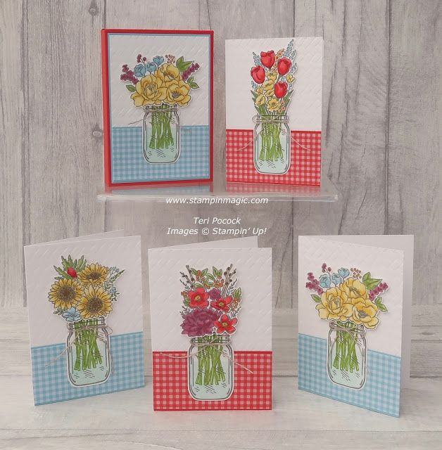 Jar of Flowers - Card Box for Notecards - Video Tutorial