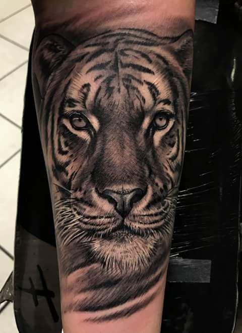 1916da8543046 Cool black and gray tiger #blackandgraytattoos | Body Art | Tiger ...
