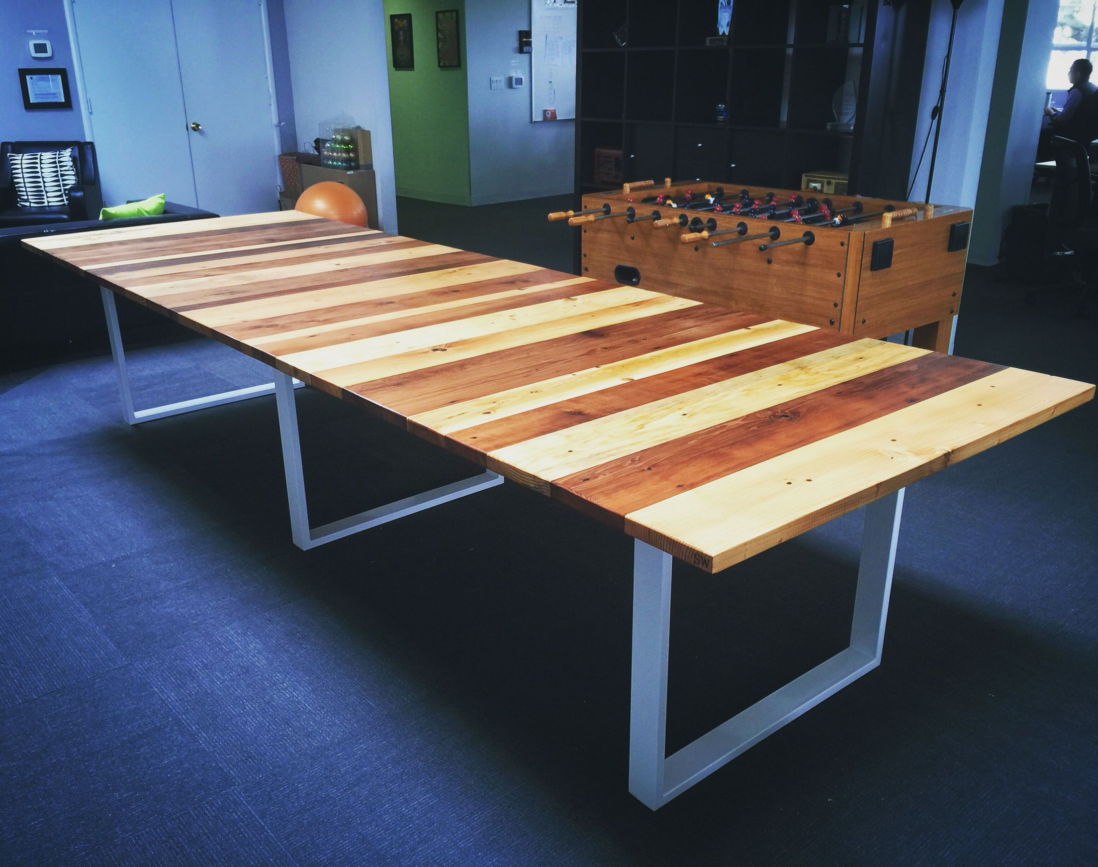 All Wood Came From Demolition Sights Of California. One Of A Kind Furniture  Piece That Gets ...