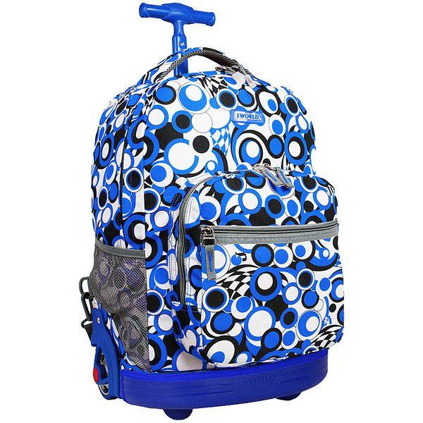 J World New York Sunrise Rolling Backpack ($42) ❤ liked on ...