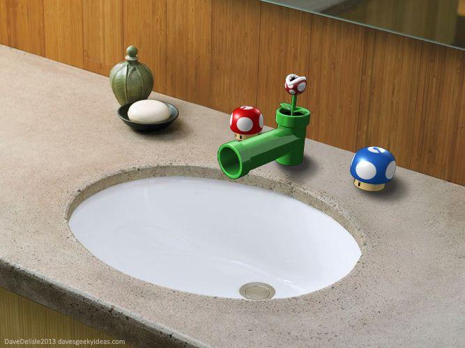 Super Mario Bathroom Sink Fixtures Mario Room Super