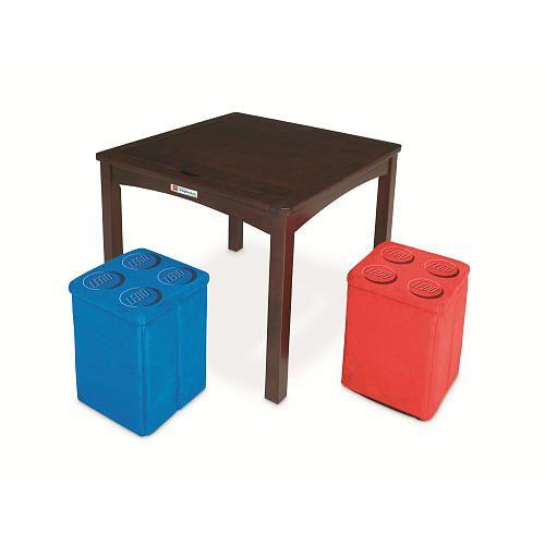 Imaginarium LEGO Table with 2 Storage Ottomans - Espresso - Toys R ...