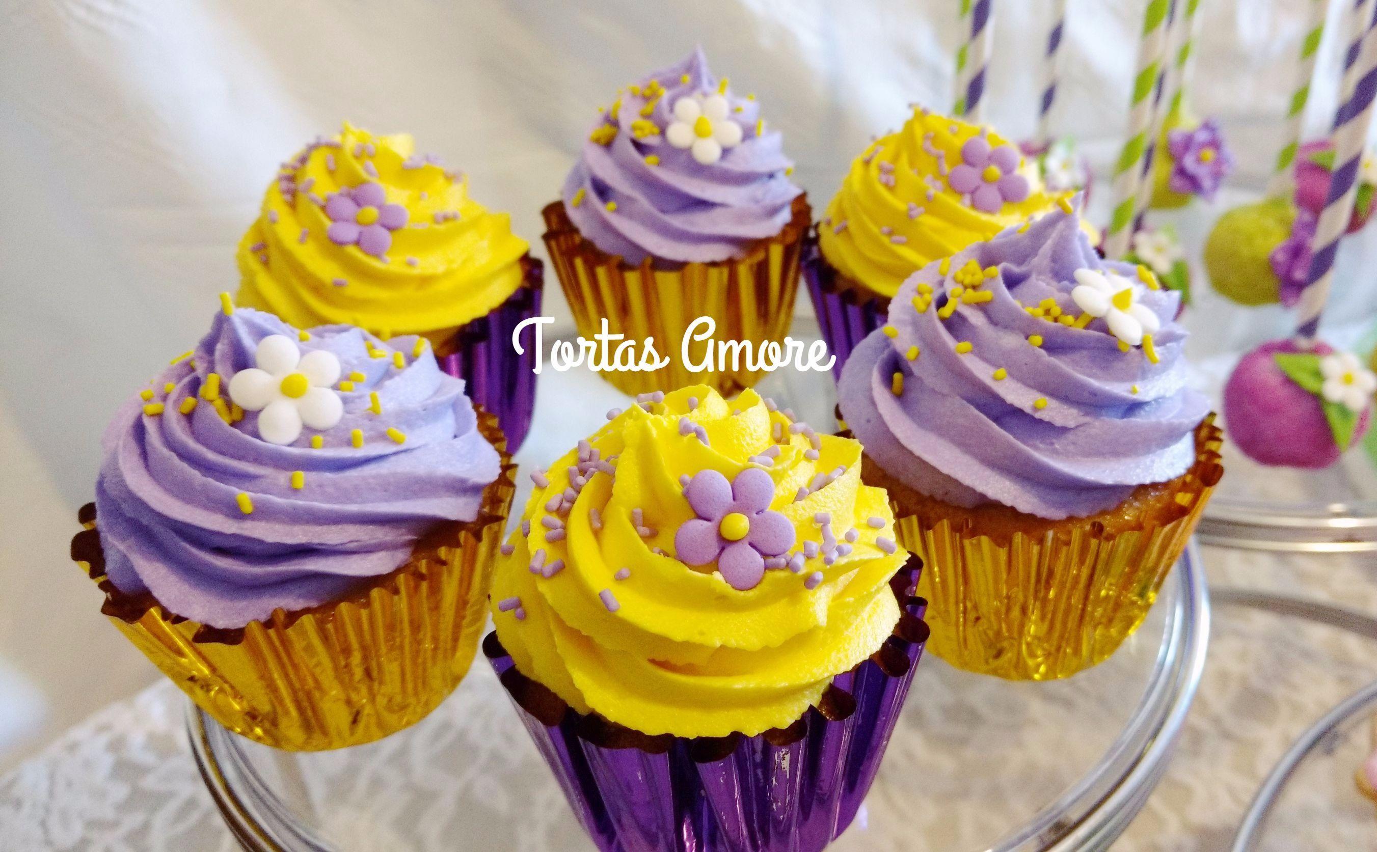 cupcakes rapunzel princesas y hadas pinterest rapunzel
