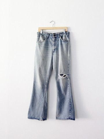 vintage Levis flare leg jeans / waist 33 - 86 Vintage