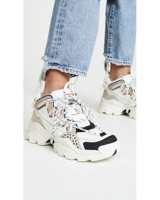 KENZO Leather Inka Low Top Sneakers