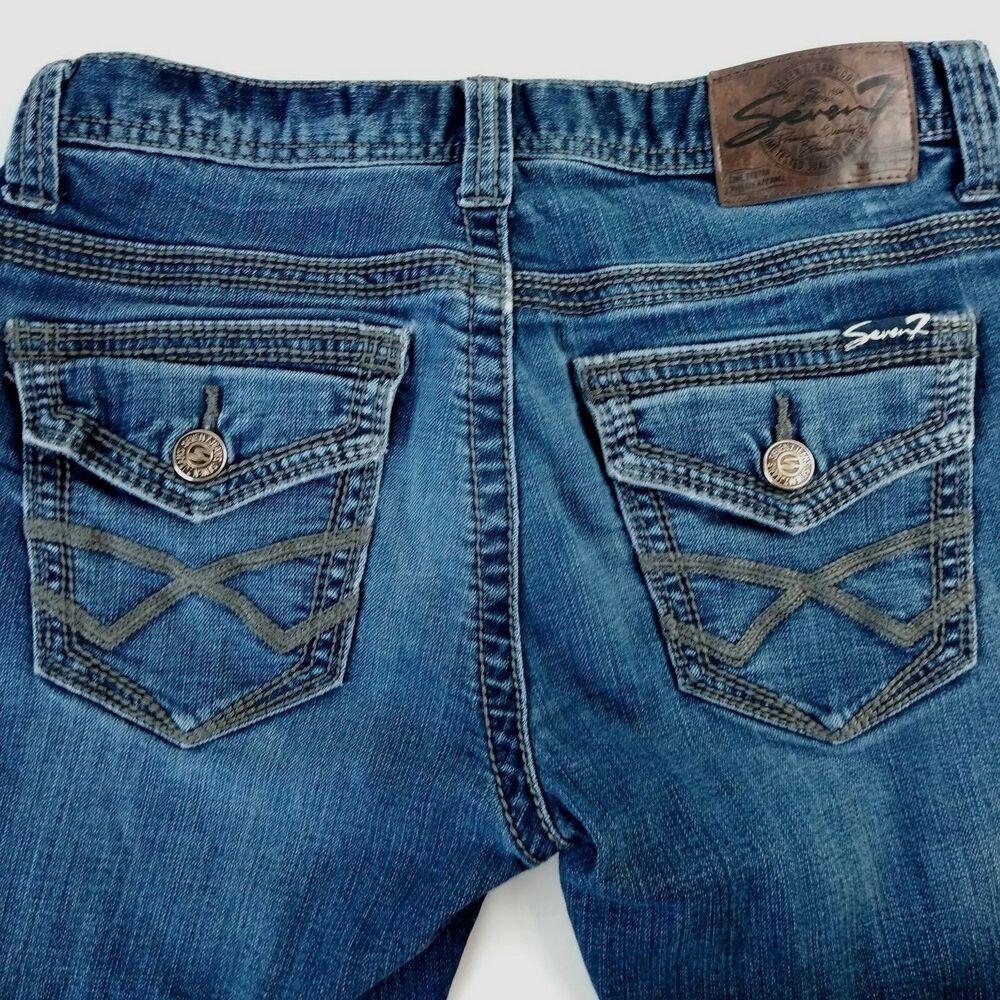527b204c09d 7 For All Mankind Mens' Jeans 32 x 30 Denim Rope Stitch Flap Pockets  Distressed #7ForAllMankind #Classic
