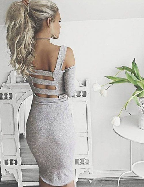 This cotton bodycon dress will not only keep you warm in the cooler months ahead but it very stylish and trending right now | Women's winter dresses