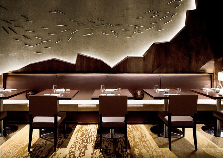 Crown Perth Restaurant Nobu Venue Interiors By Michael Fiebrich