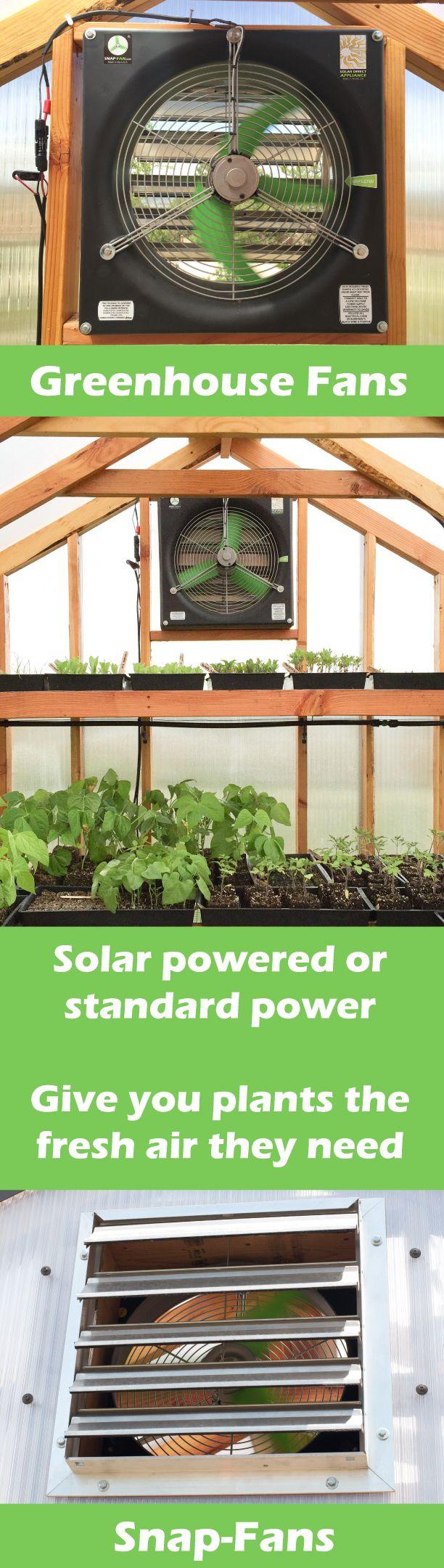 Solar Powered Greenhouse Fan Snap Fan Greenhouse Fan Run