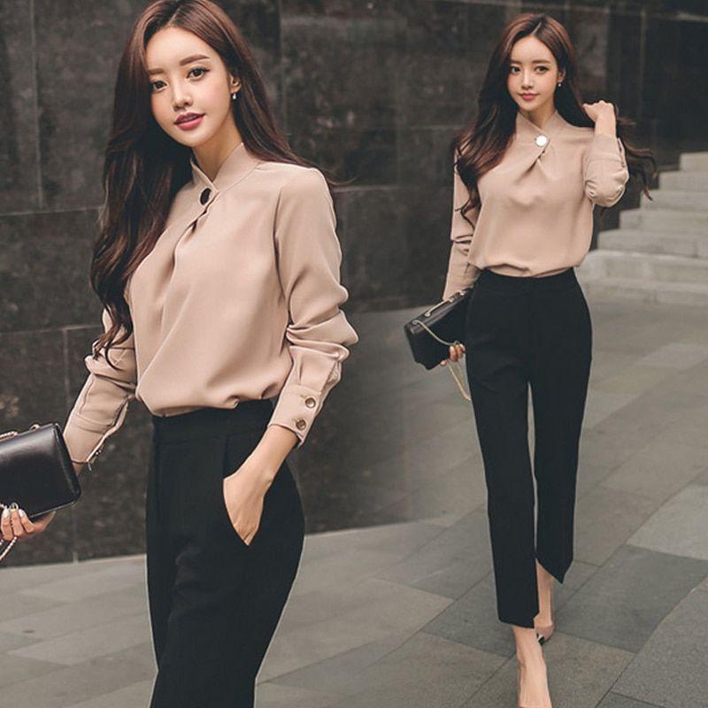 Ladies Dress Pant Suits Women Sleeve Formal New Bu