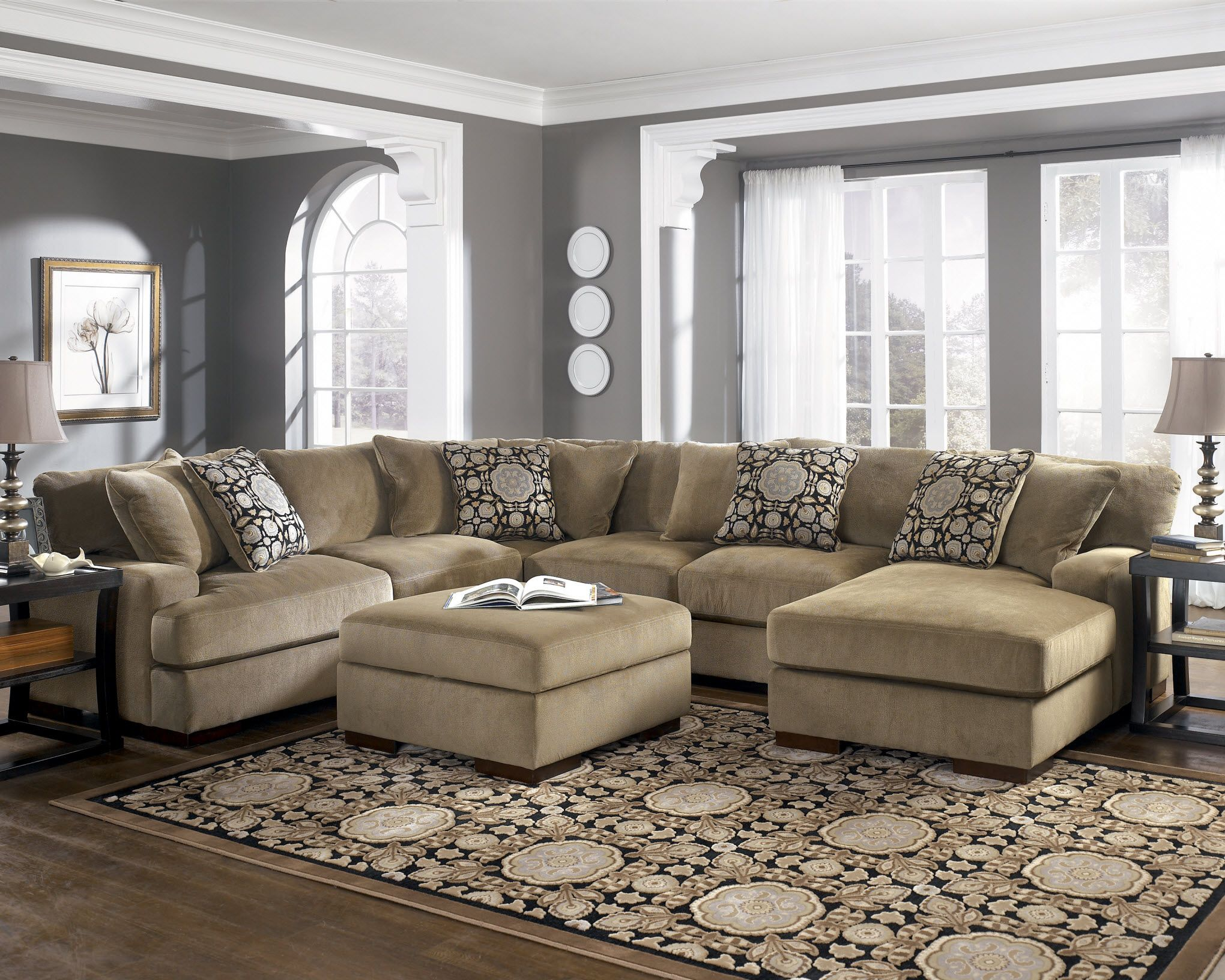 Ashley Furniture Living Room Sets Sectionals gorgeous! this ashley 'grenada mocha' sectional is stylish and