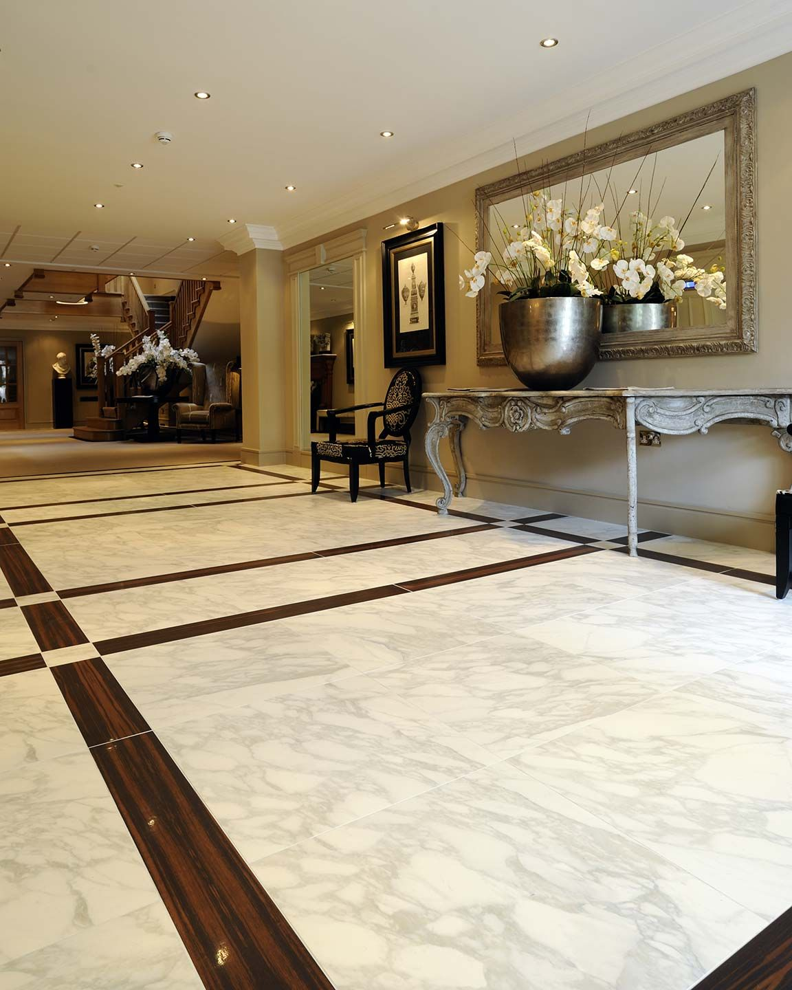 Calacatta Marble Floors Porcelain Tile English Residence Project
