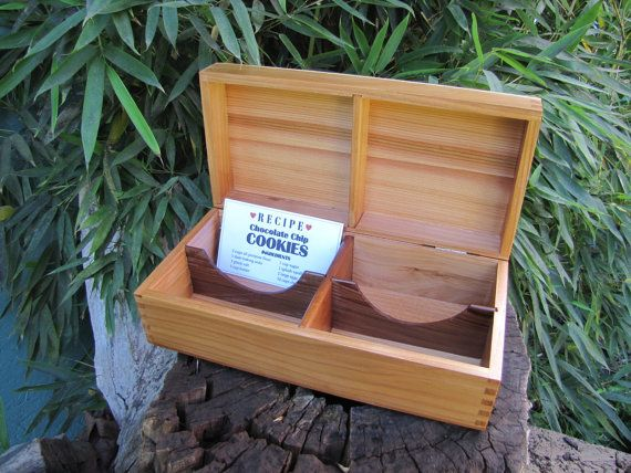 recipe card box double row 3 x 5 file card box in by