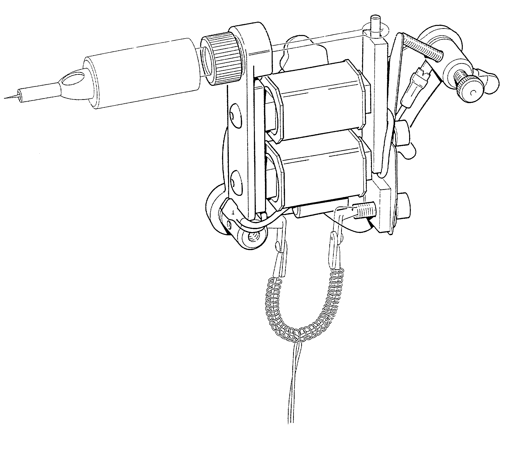 simple tattoo gun drawing