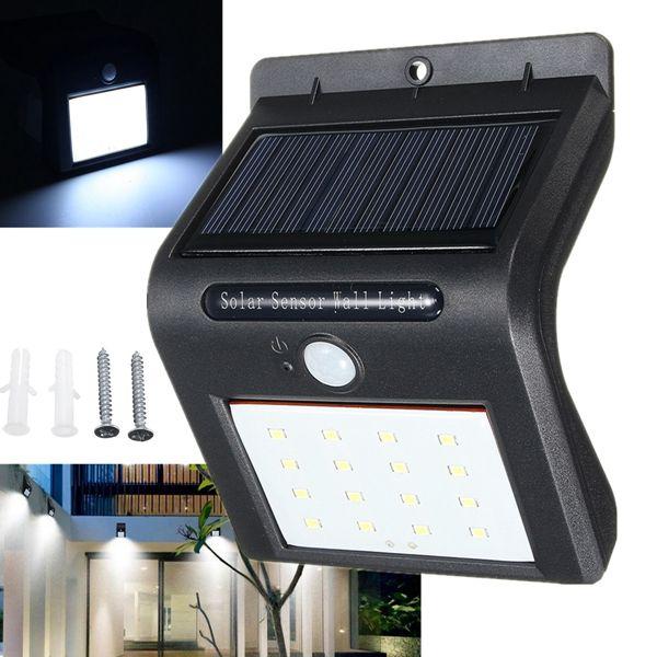 Solar Power 16 LED PIR Motion Sensor Wall Light Outdoor Garden Security Lamp  | Lights U0026 Lighting | Pinterest | Solar Power, Outdoor Gardens And Solar