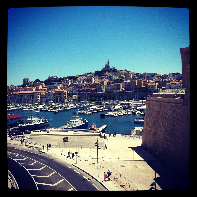 Le vieux port de Marseille depuis le fort Saint Jean