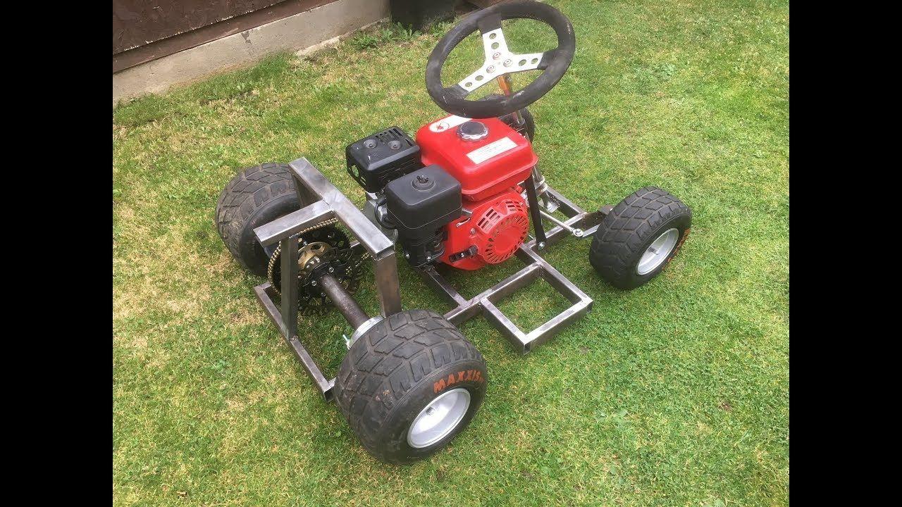 Homemade go kart build with Honda gx200 6 5hp clone engine same as
