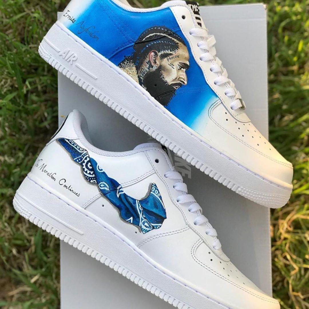 Nipsey Hussle inspired custom Air Force