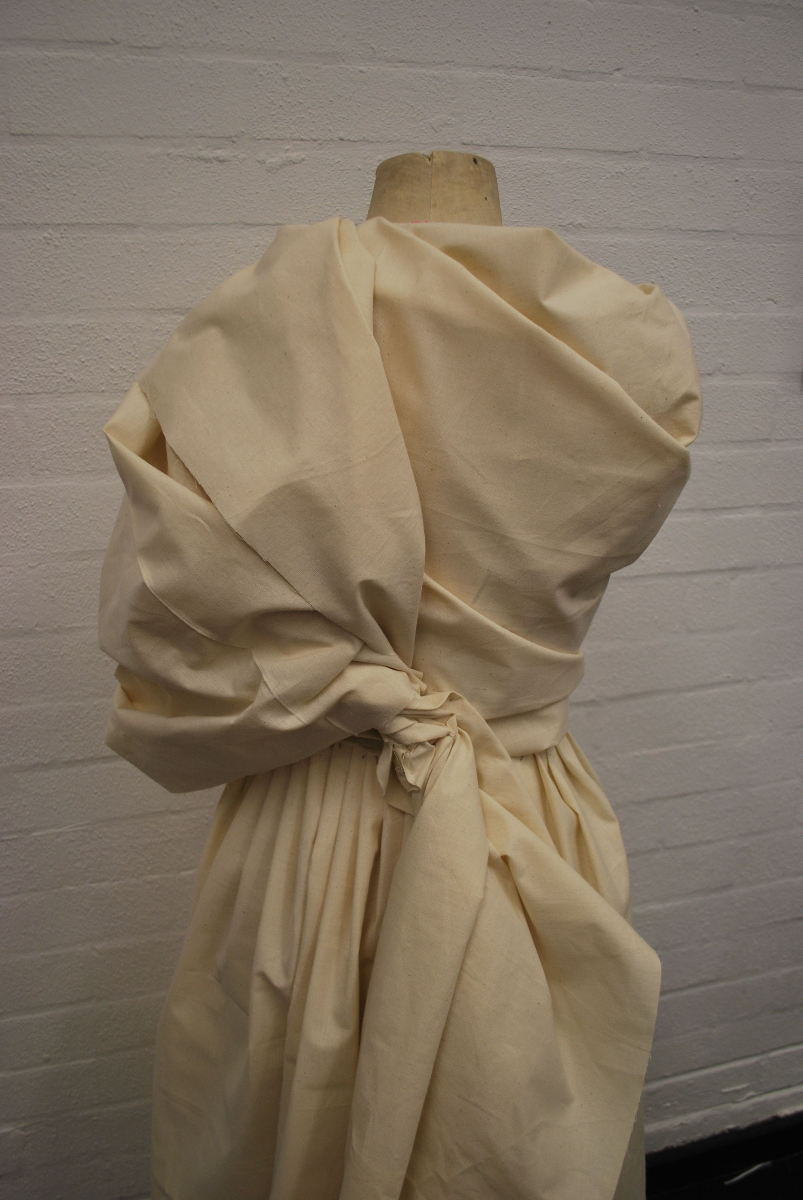 Draping On The Stand Using Calico Pleats Wrap Twist