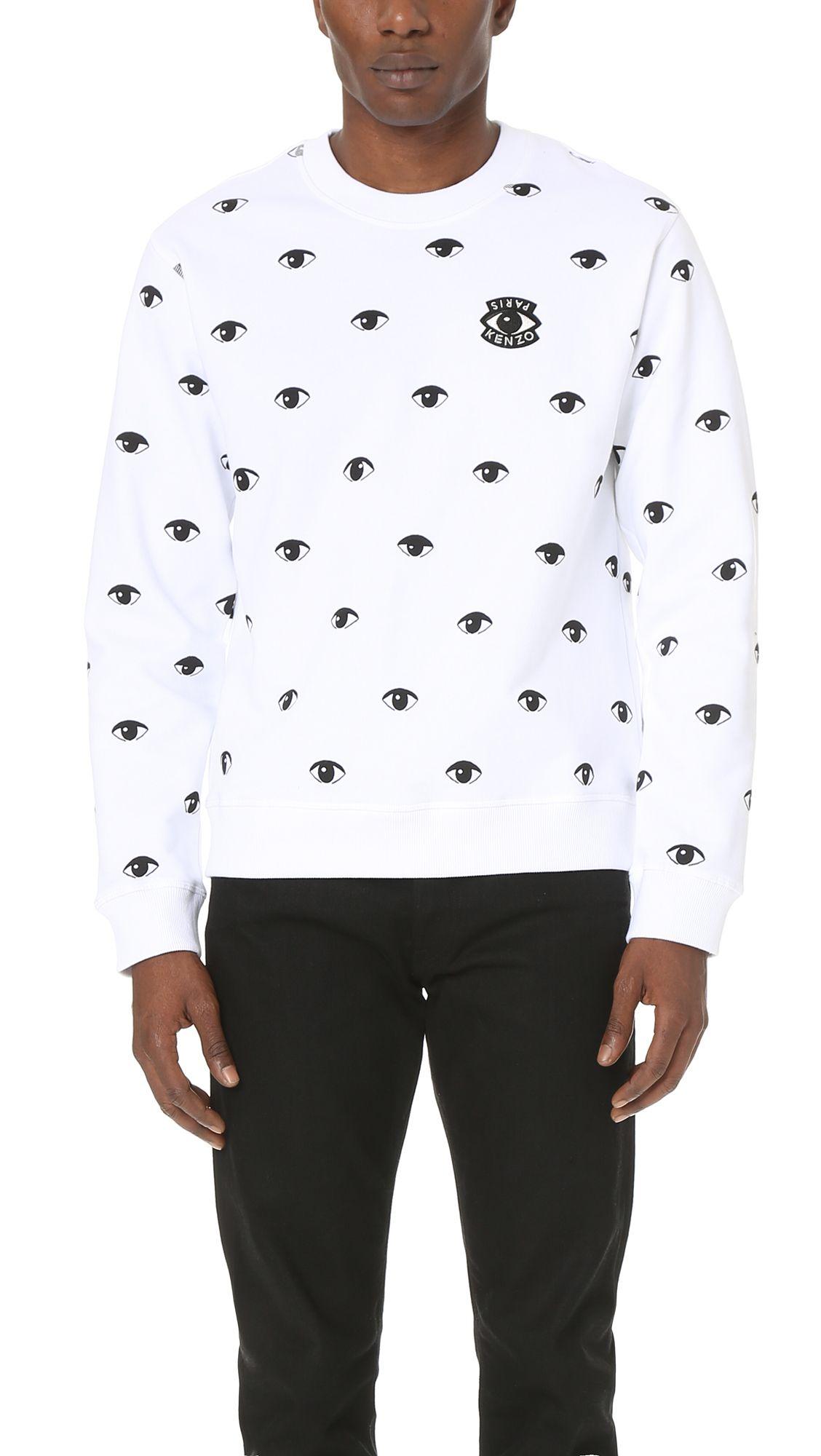 d2d5362f0bc1 KENZO Allover Eyes Print Crew Sweatshirt. #kenzo #cloth #sweatshirt ...