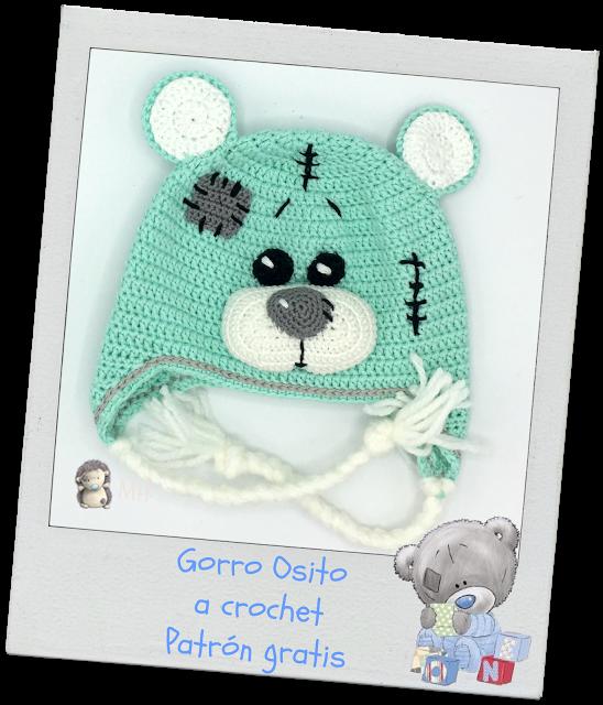 Gorro osito de peluche a crochet | crochet | Pinterest | Osos ...