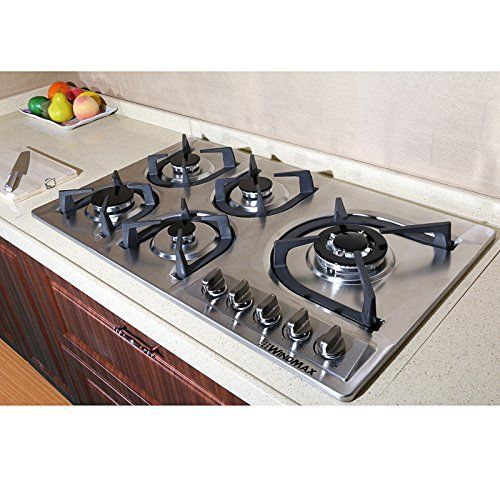 Brand New 34 Inch Stainless Steel Built In Kitchen 5 Burner Stove