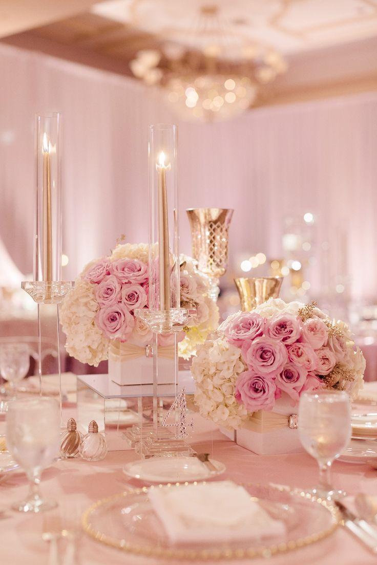 Blush Pink and White Wedding Rose Gold Inbaldror Gown St Regis