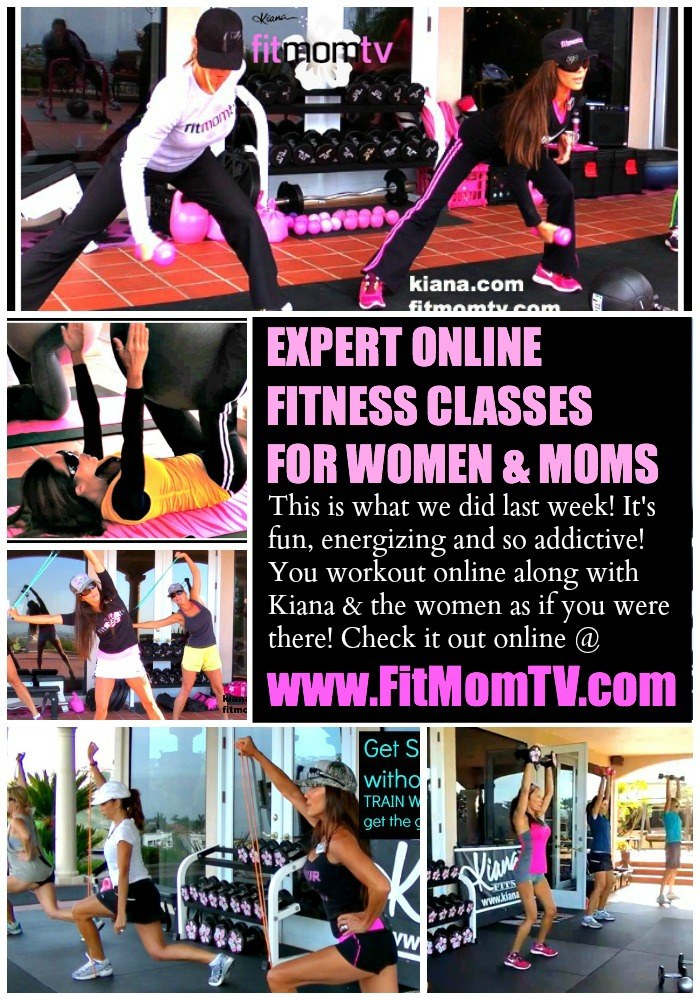 FIT MOMS ROCK! Here is a sneak peak of what we did last week on Fit Mom TV.  Tune in and workout with Kiana and the women online! Get your pre-kid body back or better!