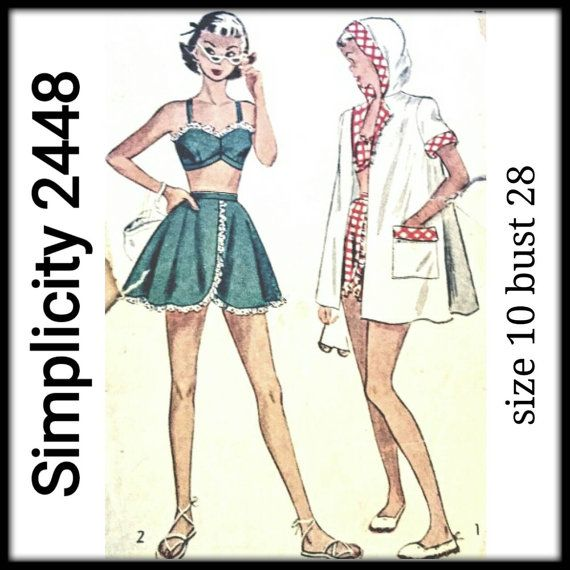 Vintage 40s Simplicity 2448 Bathing Suit by ObsoleteBoutique